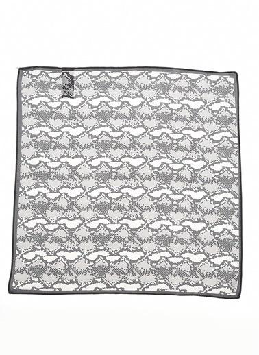 Monamoda Yılan Desenli Fular Gri
